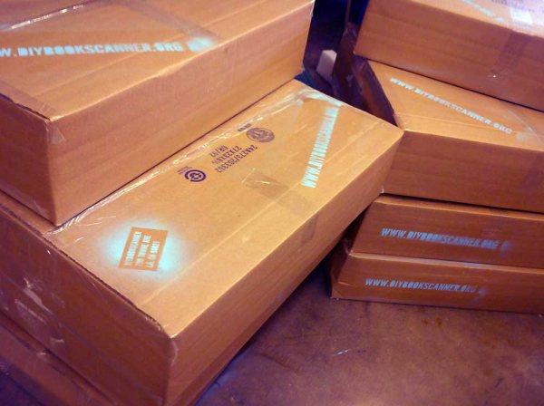 Diy book scanner cardboard box