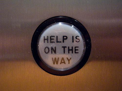 An elevator button in Naples, FL.